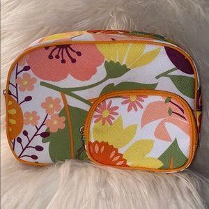Clinique Purple, Orange Cosmetic Makeup Bag set